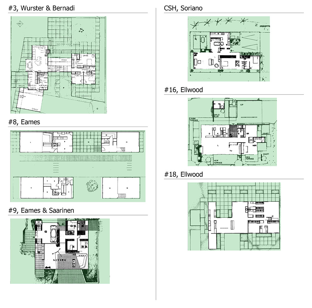 Admin archigraphie page 11 for Case study houses floor plans