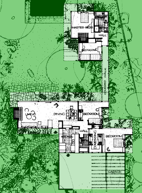 Desert house kaufmann house palm springs richard neutra for Case study house 8 floor plan
