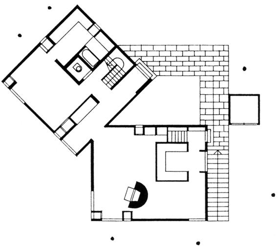 Fisher house par louis kahn archigraphie for Floor plans brown university