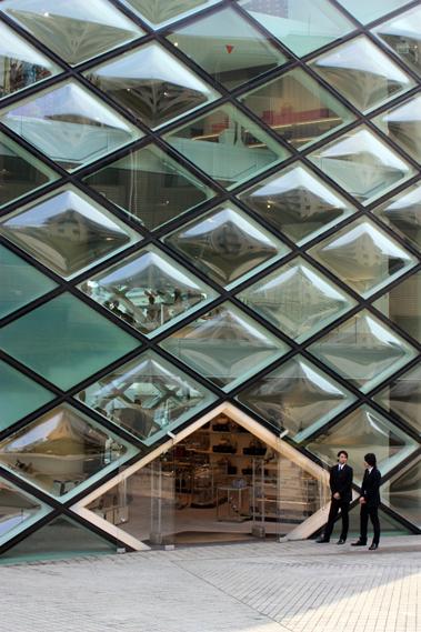 Herzog et de meuron archigraphie for V shaped architecture