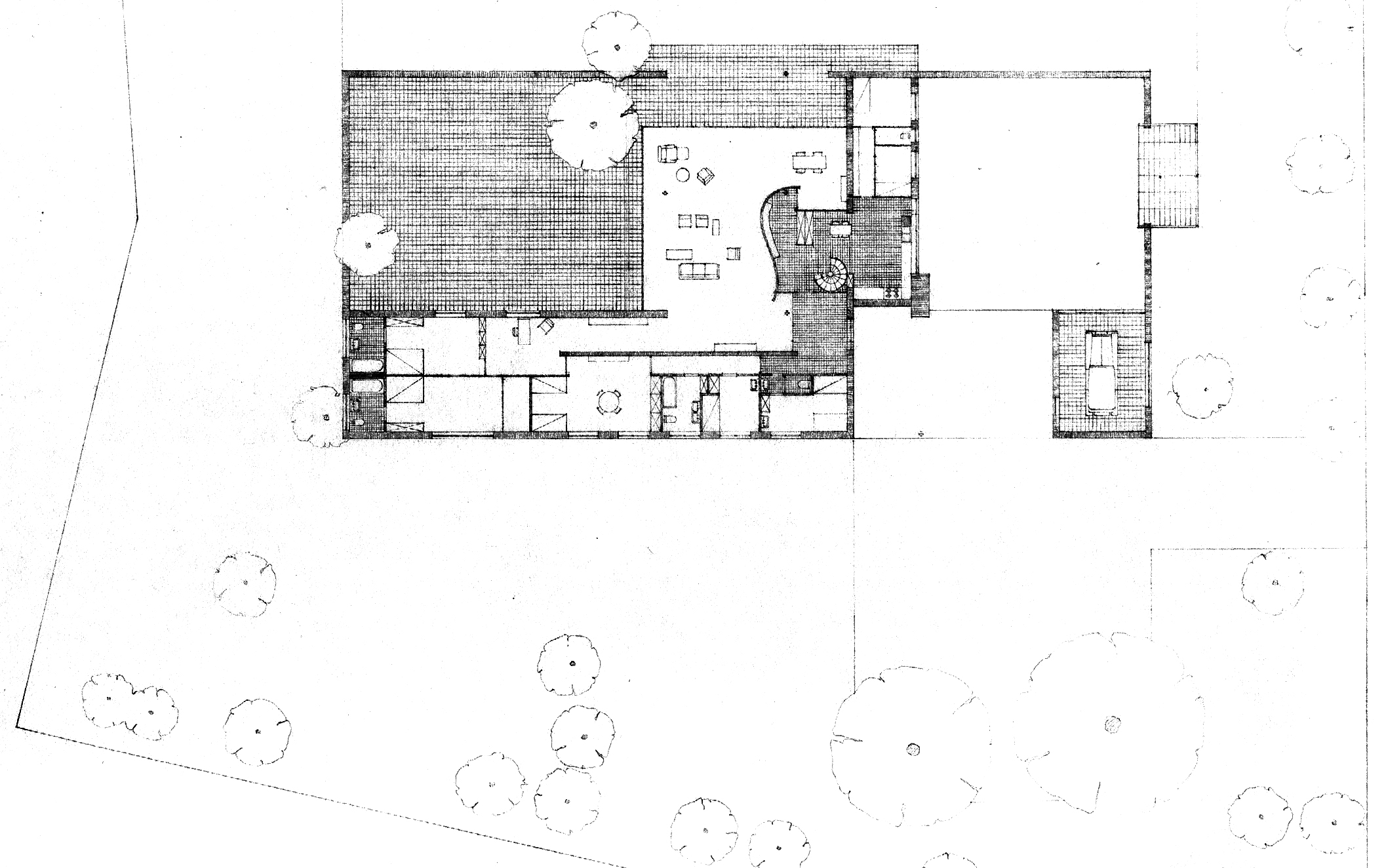 Mies van der rohe farnsworth house floor plans for Farnsworth house floor plan