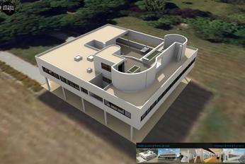 Visite virtuelle de la villa Savoye de Le Corbusier